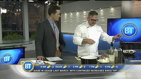 Cactus Club's Rob Feenie in the BT kitchen.