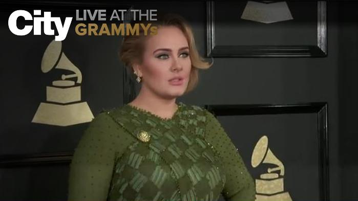 Adele Looking Gorgeous in Green Givenchy Gown