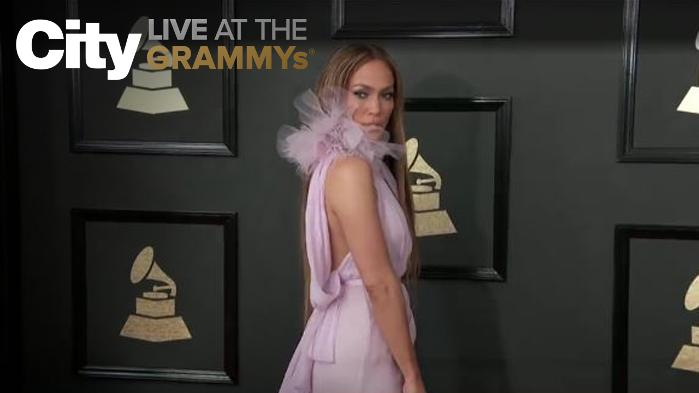 J-Lo Looking Fierce on The GRAMMYs Red Carpet!