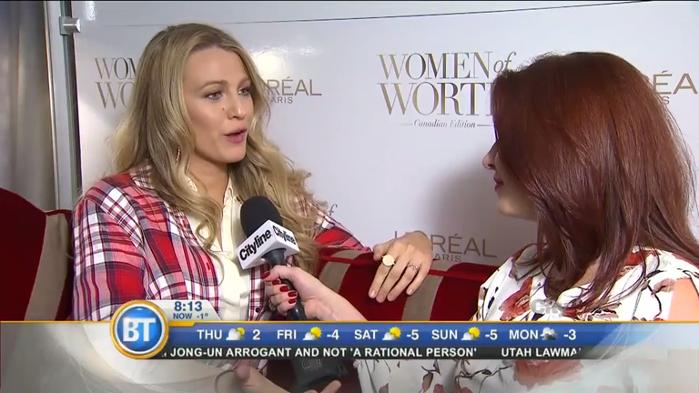 Blake Lively celebrates International Women's Day in Toronto!