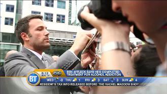 Ben Affleck reveals he has completed alcohol addiction treatment