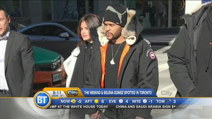 Selena Gomez and The Weeknd spotted in Toronto!