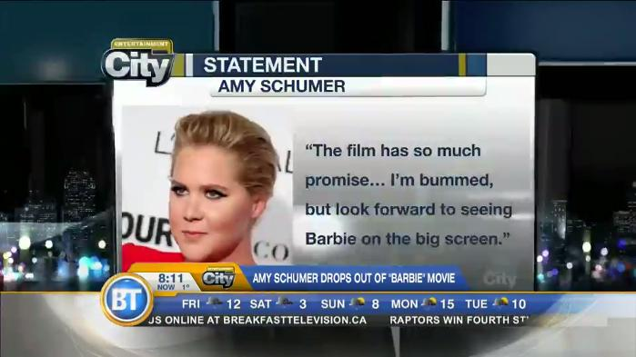 Amy Schumer decides to drop out of 'Barbie' movie