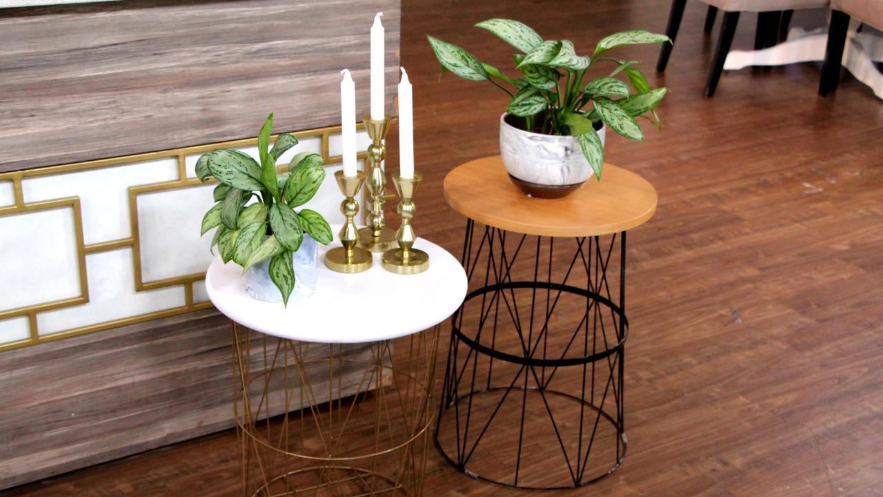 3 minimalist wire table DIYs