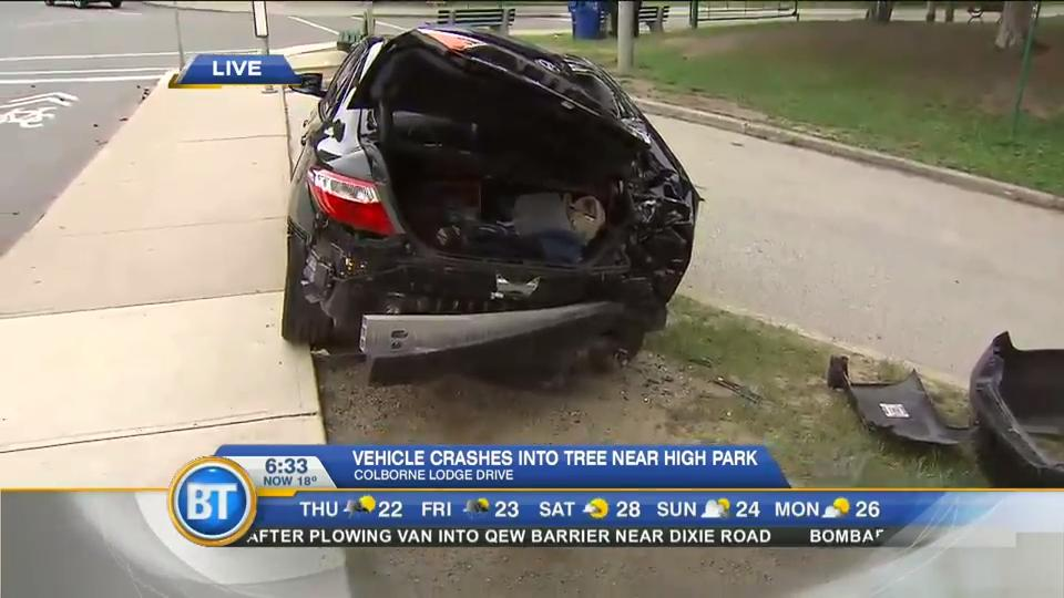 Video: Gun and drugs found in car after High Park crash, police say