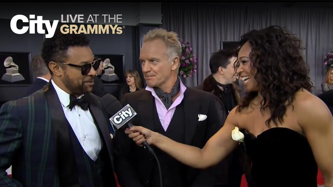 Shaggy & Sting use Tinder?? | City LIVE at the GRAMMYs