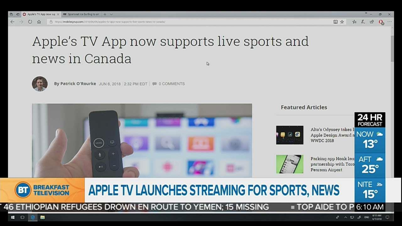 Apple TV launches streaming of live sports and news