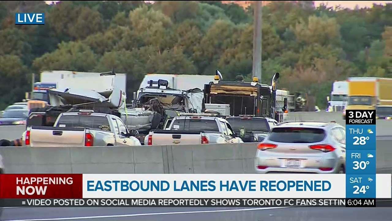 major crash closes part of hwy. 401 - video - citynews toronto