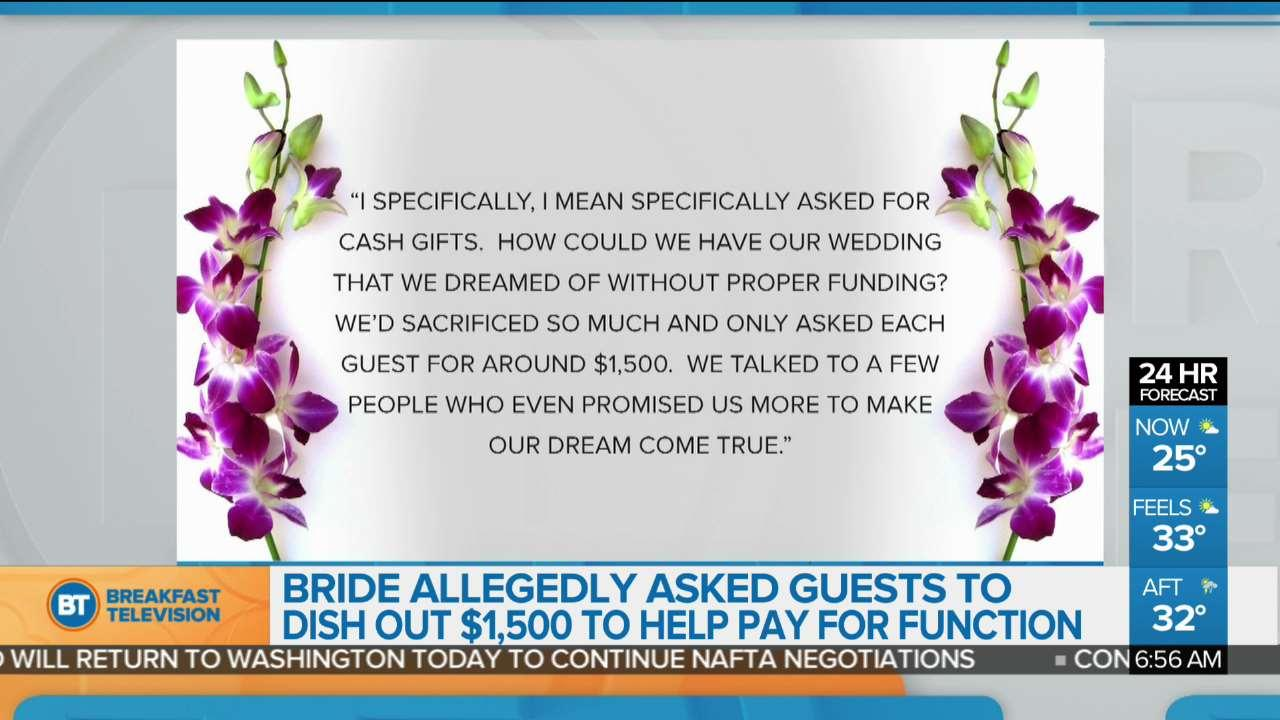 Bride Loses Her Mind When Guests Refuse To Pay Star 1043