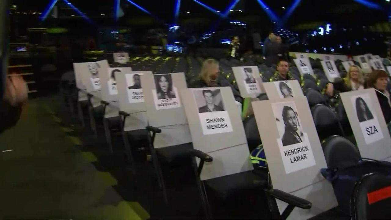 Sneak peek at where the stars will be sitting on Music's Biggest Night