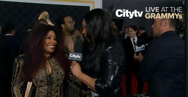 Who does Chaka Khan love in the music industry? | Citytv LIVE at the GRAMMYs