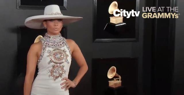 J Lo's red carpet look | Citytv LIVE at the GRAMMYs