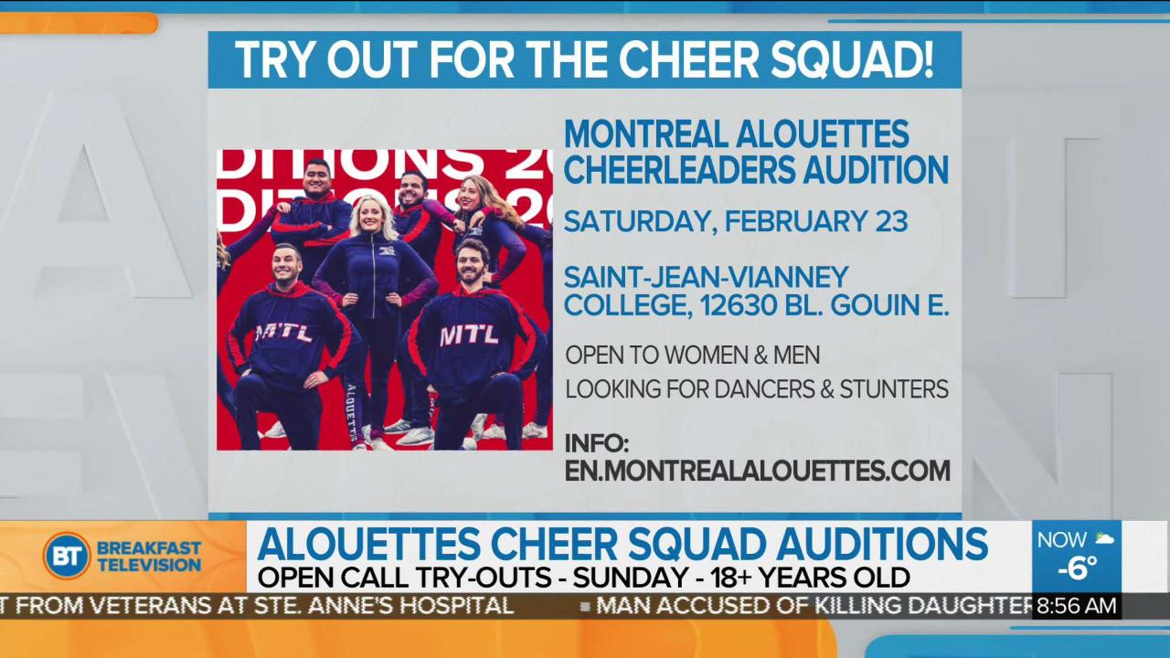 Montreal Alouettes cheer squad holds open auditions