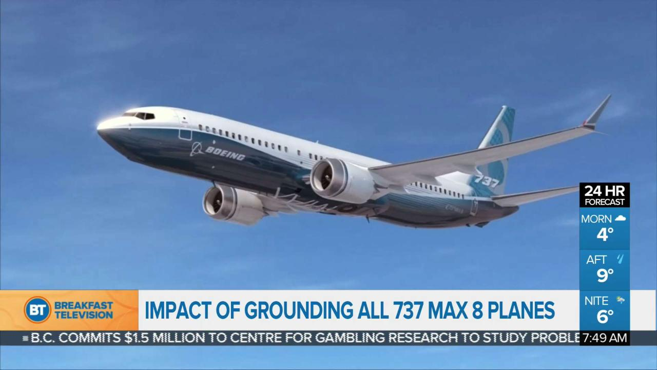 Impact of grounding all 737 Max 8 planes