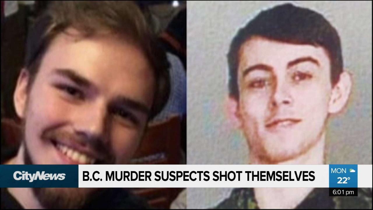 B C  murder suspects shot themselves